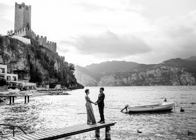 Lenka a Vojta, Lago di Garda, Itálie